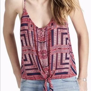 NWT Lucky Brand Women's Tie Front Tank